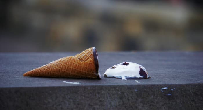 upadla zmrzlina